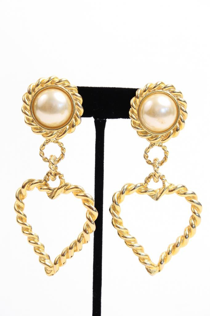 90's Gold Heart Earrings