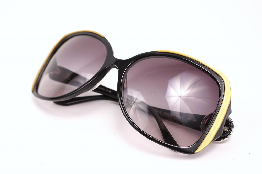 Bvlgari black & gold sunglasses