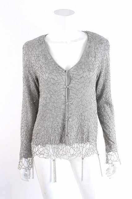 Armani Beaded Cardigan Sweater