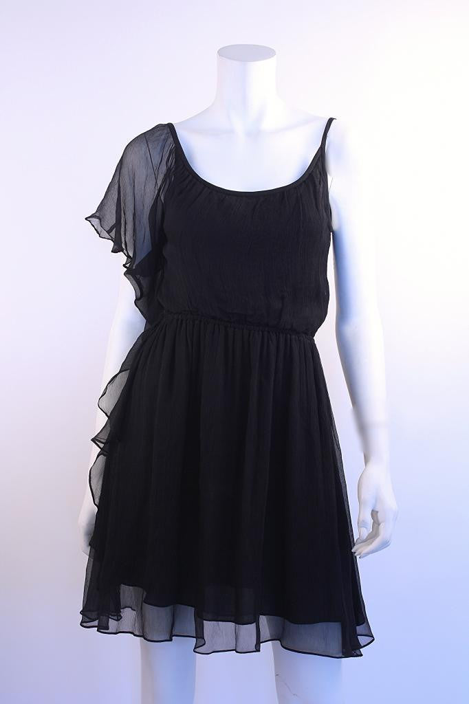 Elizabeth & James Black Chiffon Dress