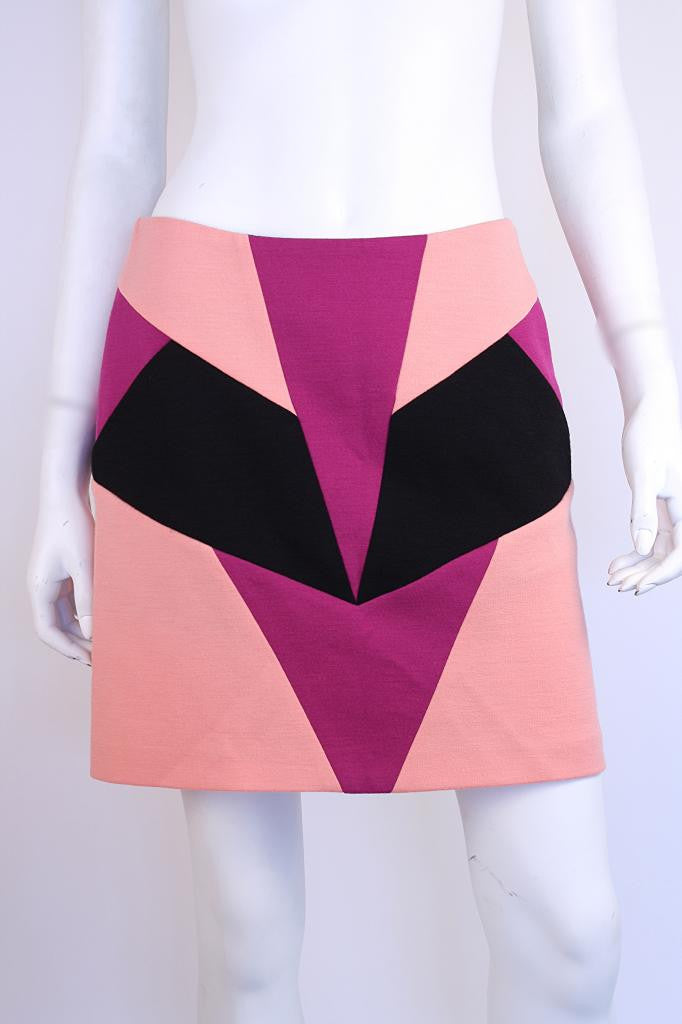 Emilio Pucci Wool Mod Mini Skirt