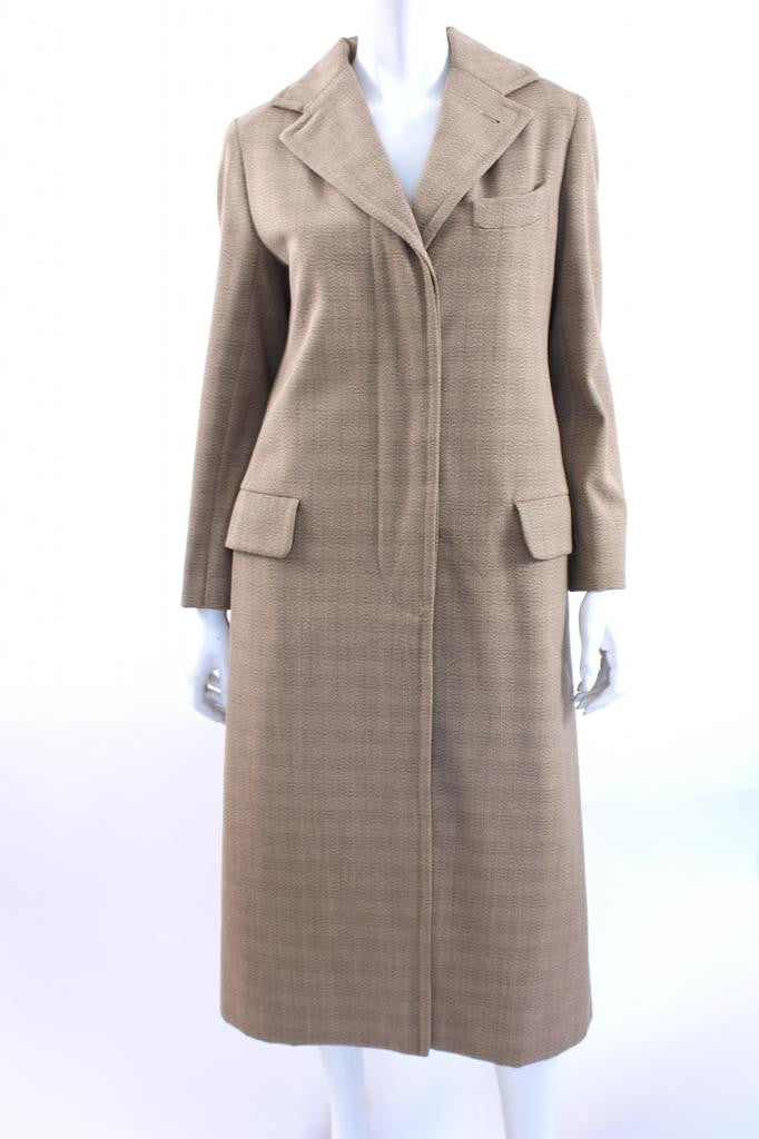 Vintage 70's Bill Blass Plaid Coat & Skirt Set