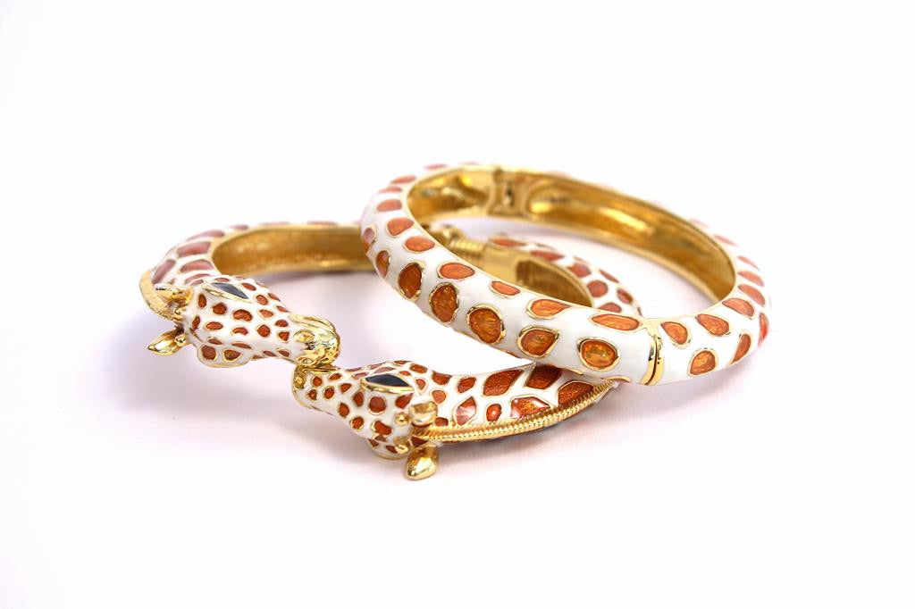 Kenneth Lane Giraffe 2 Piece Bracelet Set