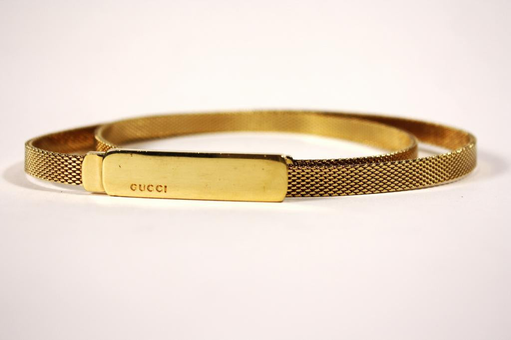 GUCCI Gold Plated Belt