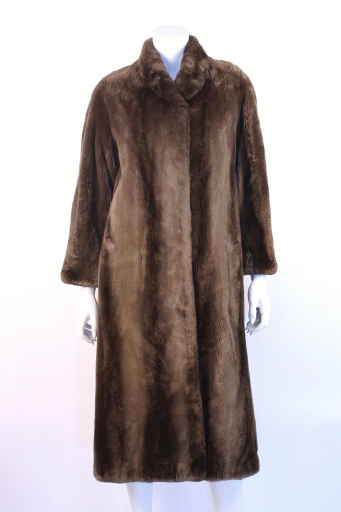 Vintage Sheared Brown Fur Coat