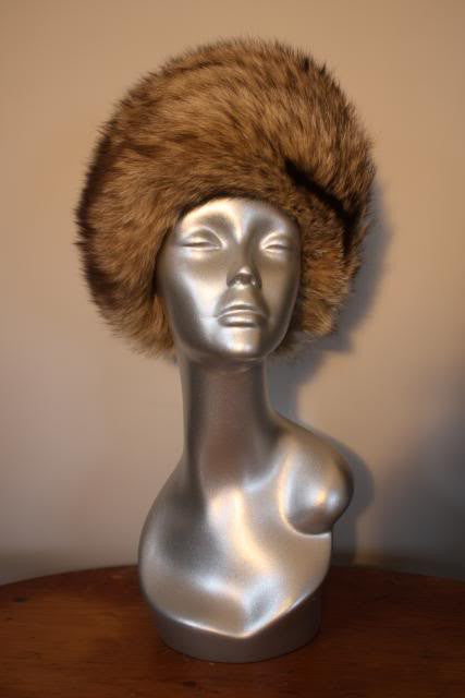 Vintage 60's/70's R.H. STEARNS Coyote Fur Hat