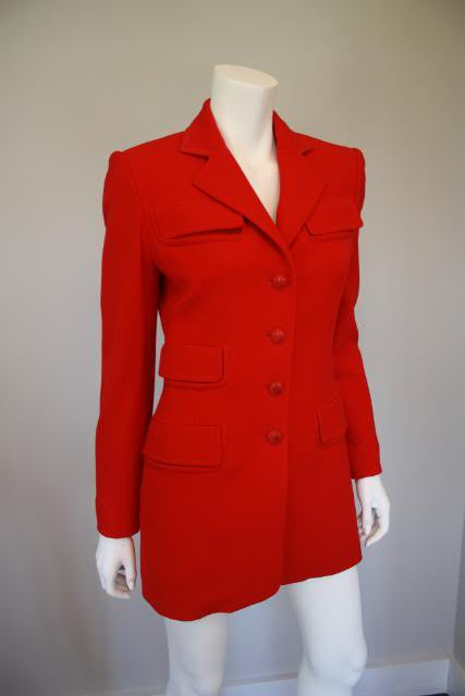 Hermes Red Wool Equestrian Jacket