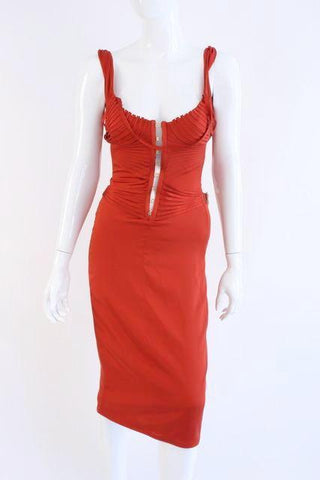 Rare Fall 2003 GUCCI by TOM FORD Silk Corset Dress
