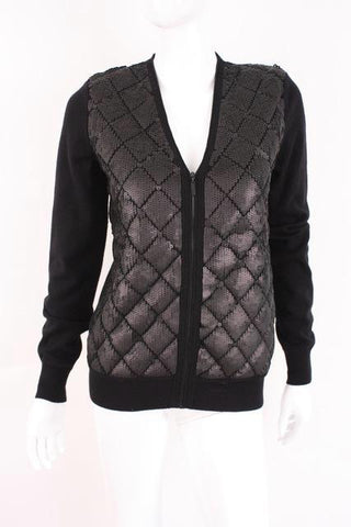 CHANEL Cashmere & Sequin Cardigan Sweater
