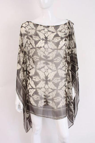 DOLCE & GABBANA Silk Shawl Cape Top
