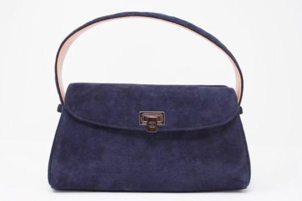 CHANEL Suede Top Handle Handbag
