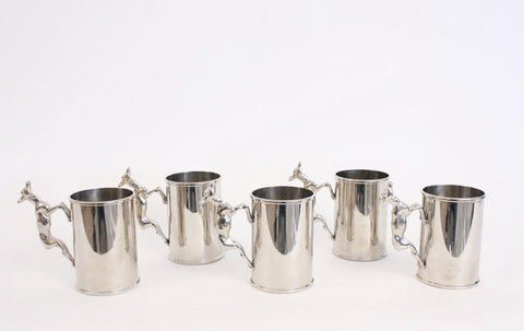 Set of 5 Rare Vintage GUCCI Silver Cups