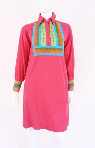 Vintage 70's JOSEFA Cotton Caftan Dress