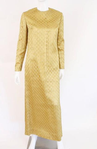 Vintage 60's Gold Gown with Netting