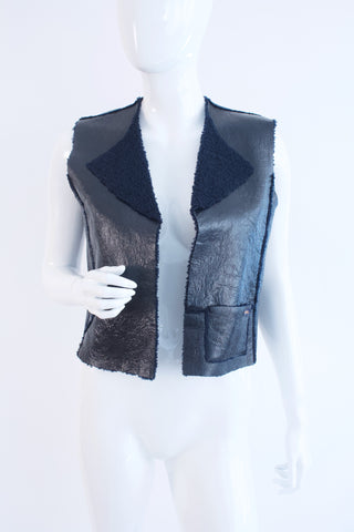 Rare CHANEL Fall 2000 Shearling Vest ON LAYAWAY