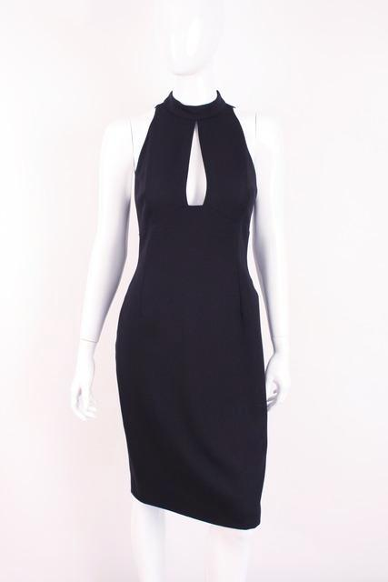 Vintage 90's Gianni Versace Navy Sexy Dress