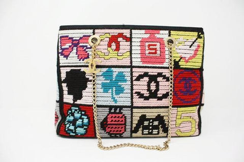 "Vintage CHANEL ""Precious Symbols"" Needlepoint Bag  ON LAYAWAY"