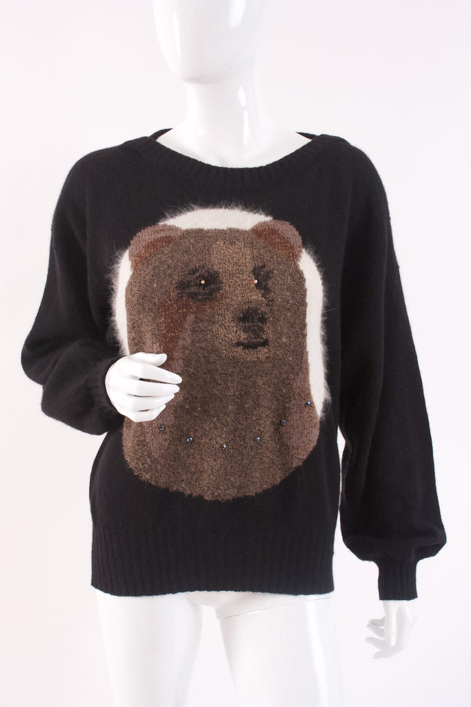 Rare Vintage KRIZIA Bear Sweater
