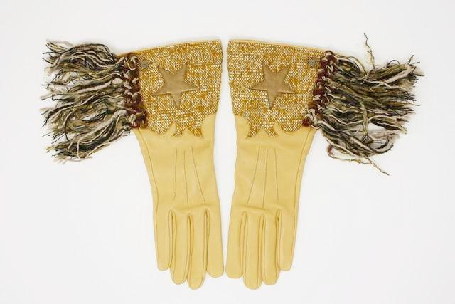 Chanel Paris-Dallas Fringed Gloves