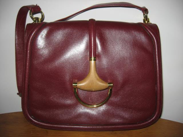 Vintage 70's GUCCI Rare Leather Equestrian Handbag