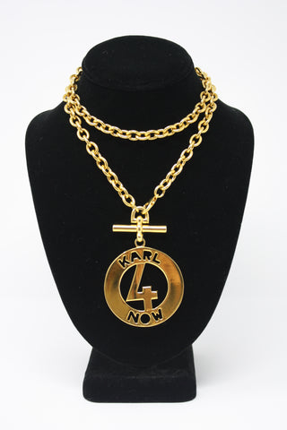 Vintage KARL LAGERFELD Medallion Necklace Or Belt