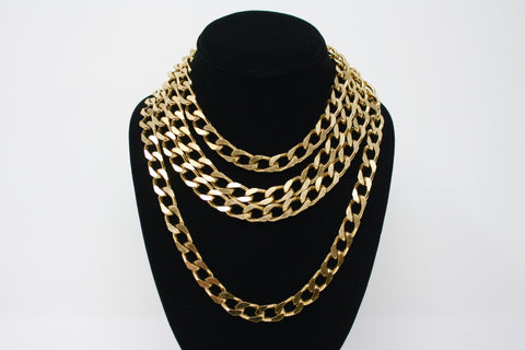 Vintage Multi Strand Gold Chain Necklace