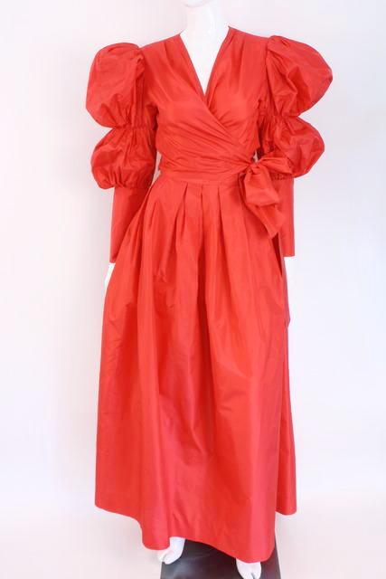 YSL Attributed Blouse Skirt Set 80's