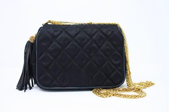 Vintage Chanel Satin Flap Bag