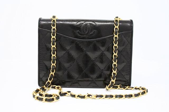 Deadstock Vintage Chanel Lizard Flap Bag