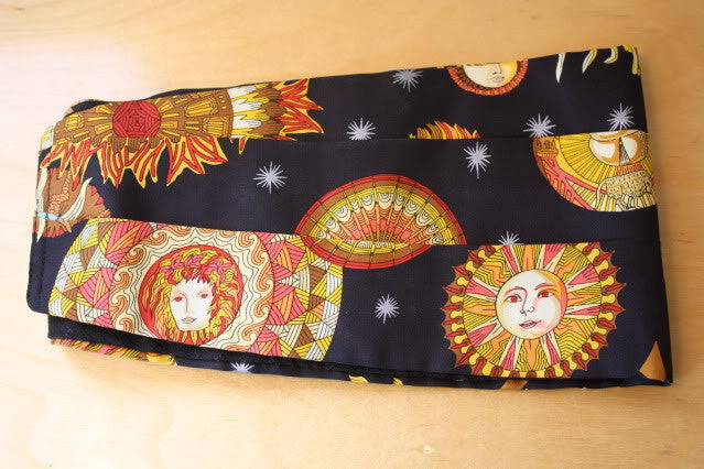 Vintage HERMES Astrological Silk Scarf Print Cummerbund or Belt