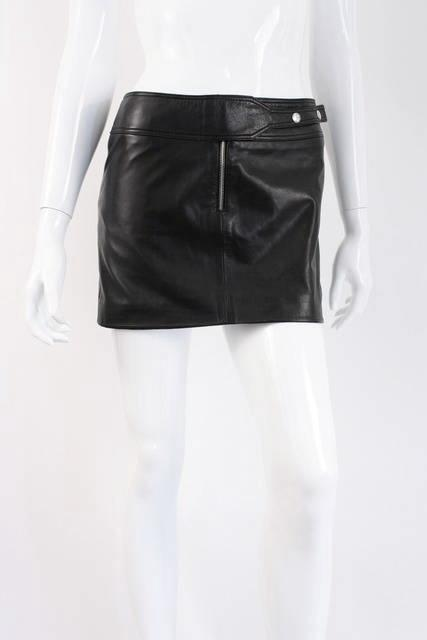 a015452e GIANNI VERSACE Micro Mini Leather Skirt at Rice and Beans Vintage