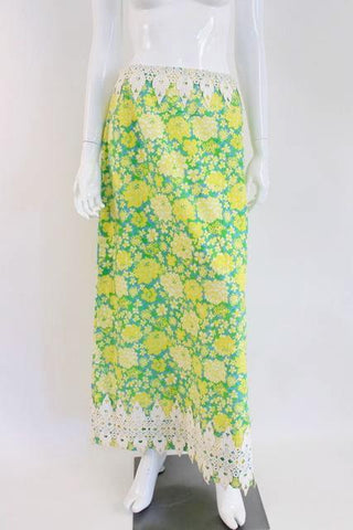 Vintage Late 60's LILLY PULITZER Maxi Skirt