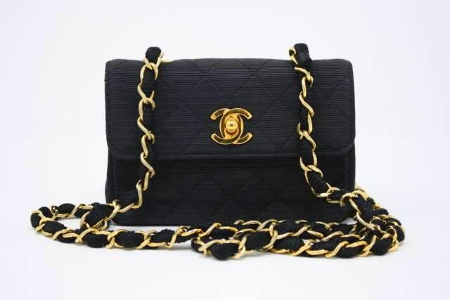 Rare Vintage CHANEL Black Mini Bag