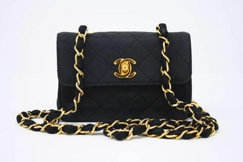 Rare Vintage CHANEL Black Mini Bag ON LAYAWAY