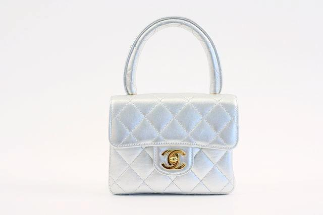 Vintage Chanel Silver Mini Kelly Bag