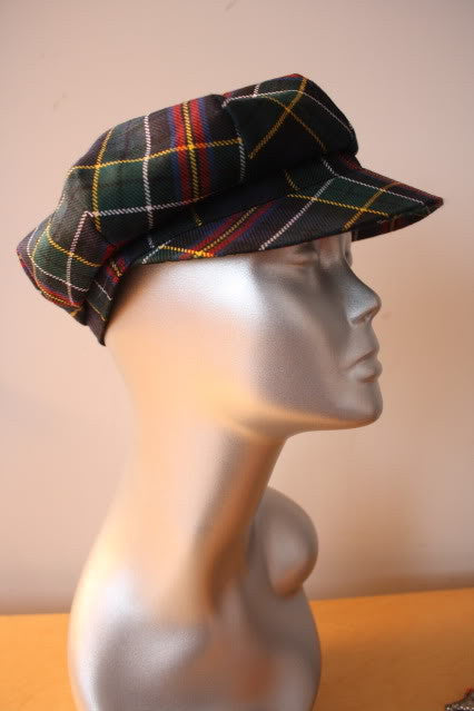 BURBERRY Classic Plaid Wool Cap Hat
