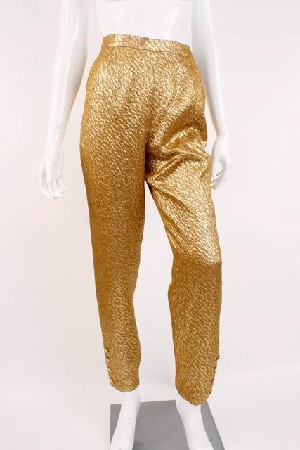 Vintage CHANEL 96A Gold Metallic Pants