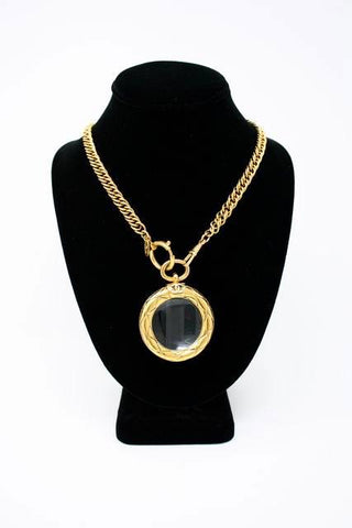 Vintage CHANEL Magnifying Glass Necklace