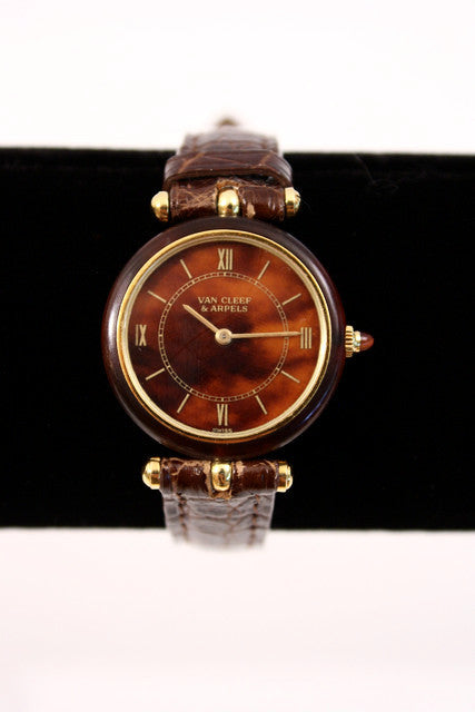 Vintage Van Cleef & Arpels Wood Watch
