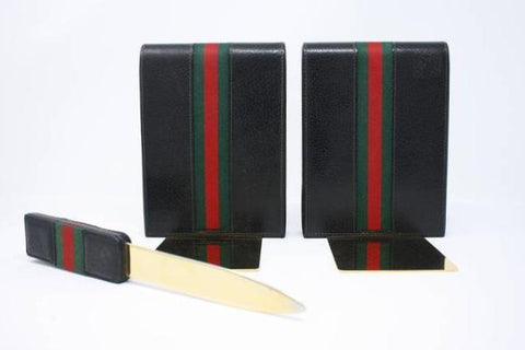 Rare Vintage 70's GUCCI Bookends & Letter Opener