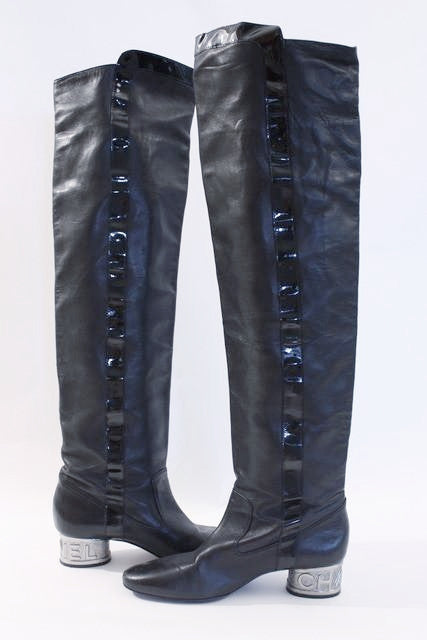 Vintage CHANEL Over The Knee Boots