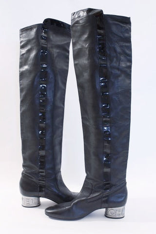 Rare Vintage CHANEL Over The Knee Boots
