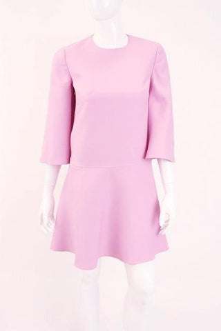 VALENTINO Pink Crepe Mini Dress
