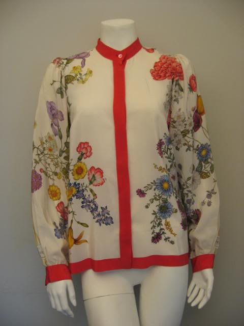 Gucci floral top - vintage womens fashion