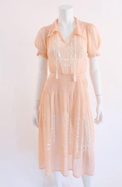 Vintage 20's Hungarian Peasant Dress