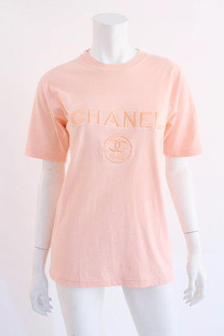 Vintage T Shirt with Chanel Logo