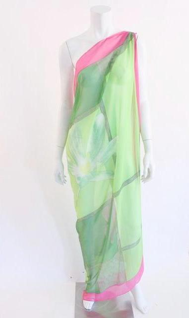 Vintage silk parero shawl