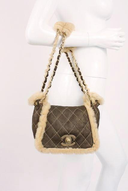 2a518174e17b1c CHANEL Small Shearling Flap Bag at Rice and Beans Vintage