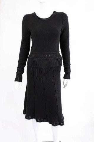 CHANEL 02A Silk & Cashmere Sweater Skirt Set