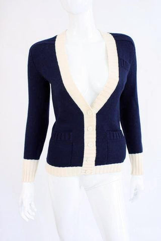 Vintage YVES SAINT LAURENT Cardigan Sweater